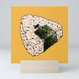 Onigiri Snooze Mini Art Print