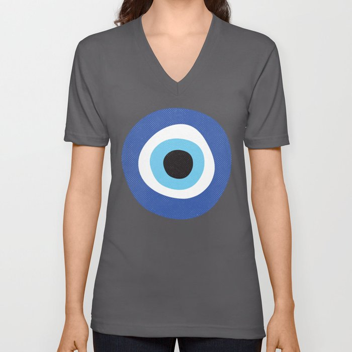 Evil Eye Symbol Unisex V-Ausschnitt