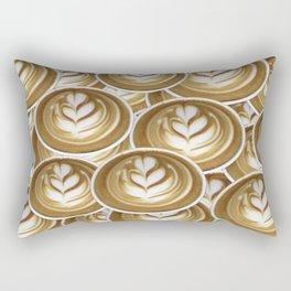 Latte Hearts Rectangular Pillow