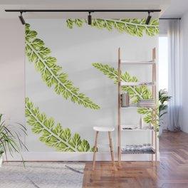 Tropical leaf pattern, green leaves Wall Mural