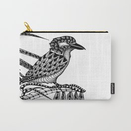 Tangled Kookaburra on White Carry-All Pouch