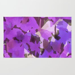 Red Violet Field Flowers Rug