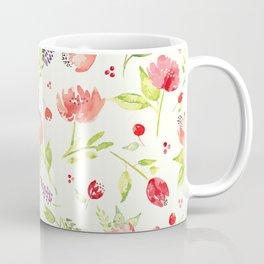 Watercolor Rose Garden Coffee Mug