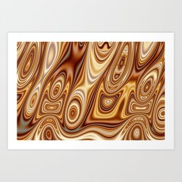 Fordite Caramel Nafta 25 Art Print