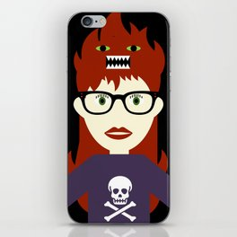 Monster On My Head iPhone Skin