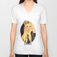 britney V-neck T-shirts featuring BRITNEY SPEARS  .- BRITNEY JEAN  by Alfonso Aranda