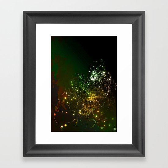 Mysterious World In the Garden Framed Art Print