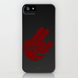 Rising Shocker Hand Carbon iPhone Case