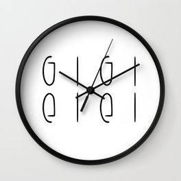 gigi Wall Clock