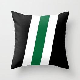 Green Stripe Black #style #minimal #design #kirovair #buyart #decor #home Throw Pillow
