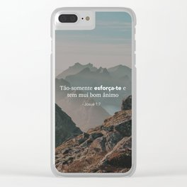 Josué 1:7 Clear iPhone Case
