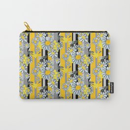 Yellow Gray Stripe lg WKS Carry-All Pouch