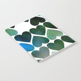 Mod Blue Hearts Notebook