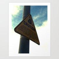 Fair Warning Art Print