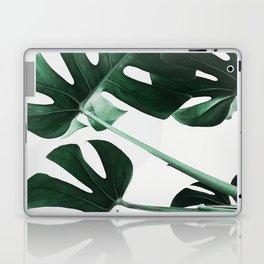 Monstera, Leaves, Plant, Green, Scandinavian, Minimal, Modern, Wall art Laptop & iPad Skin
