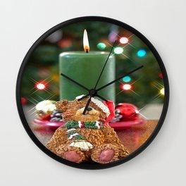 Little Bears Christmas Wall Clock