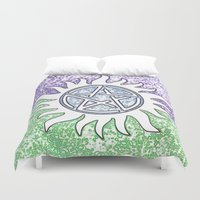 supernatural Duvet Covers featuring Supernatural by Beastie Toyz