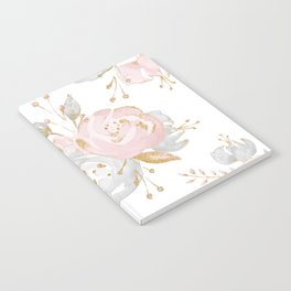 Roses Gold Glitter Pink by Nature Magick Notebook