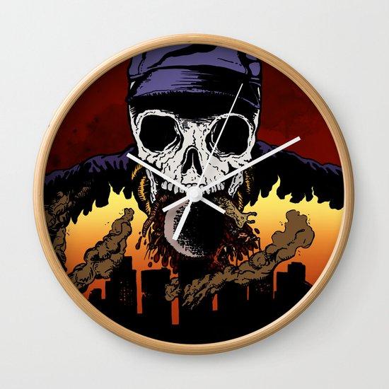 """Hip Hop Horror"" by Cap Blackard Wall Clock"