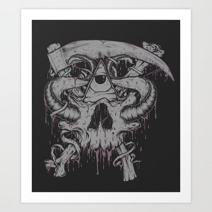 Sickle & Bone  Art Print
