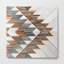 Urban Tribal Pattern No.12 - Aztec - Wood Metal Print