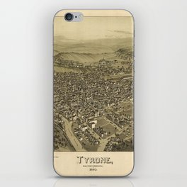 Aerial View of Tyrone, Pennsylvania (1895) iPhone Skin