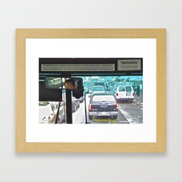 Bus Driver in SF China Town Framed Art Print