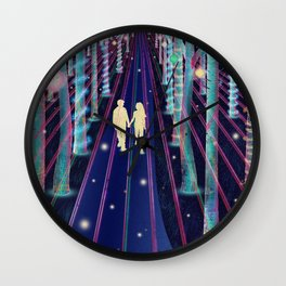 Walking in the Magic Forest Wall Clock