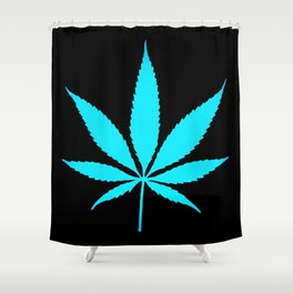 Weed : High Time Blue Shower Curtain