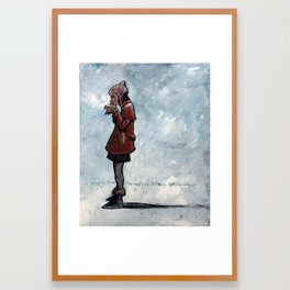 """warm drink/cold day"" Framed Art Print"