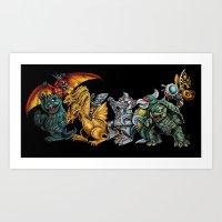 Where the Wild Kaiju Are Art Print