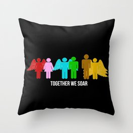 Together we soar Throw Pillow
