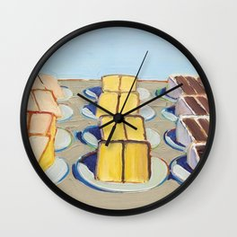 "Classical Masterpiece ""Cake Rows"" by Wayne Thiebaud,1920 Wall Clock"