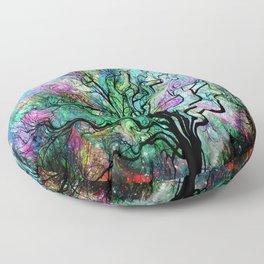 Van Gogh's Aurora Borealis Floor Pillow