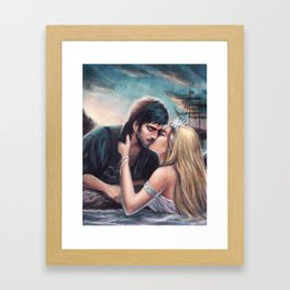 The Siren and the Pirate Framed Art Print