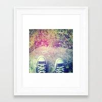 converse Framed Art Prints featuring Converse by Jane Mathieu