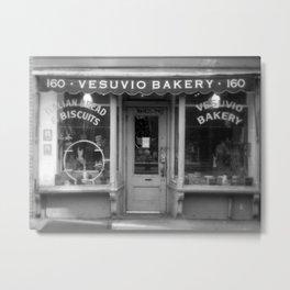 Vesubio Bakery (B/W) Metal Print