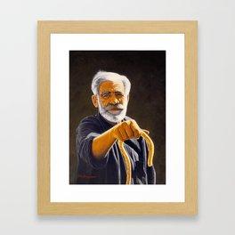Portrait Of Cretan Man Framed Art Print
