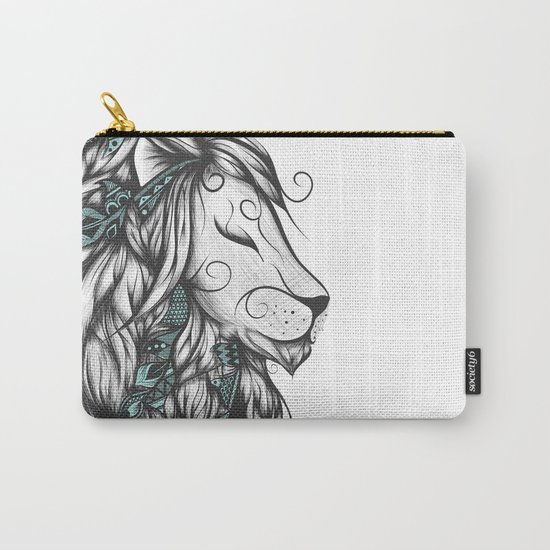 Poetic Lion Turquoise Carry-All Pouch
