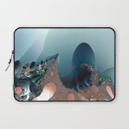 Hiding in a Fantasy Waterworld -- Fractal art by Twigisle at Society6 Laptop Sleeve