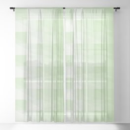 Triangles in green tones with 3d depth effect Sheer Curtain