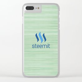 Steemit on Green Clear iPhone Case