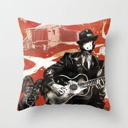 Delta Blues - Robert Johnson & Friends Throw Pillow