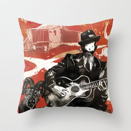 Delta Blues - Robert Johnson & Friends Throw Pillow