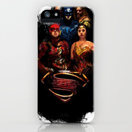 JL We can be heroes iPhone Case