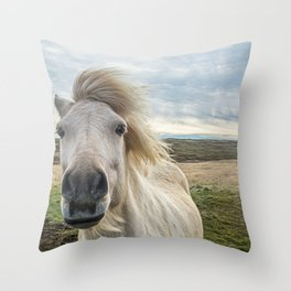 Handsome Boy. Throw Pillow