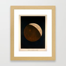 Partial eclipse of the moon by Étienne Léopold Trouvelot (1874) Framed Art Print