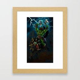 Blood and Thunder Framed Art Print