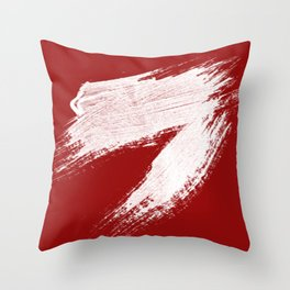 ANGER - red palette Throw Pillow