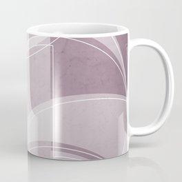 Where the Circles and Semi-Circles Meet in Musk Mauve Coffee Mug